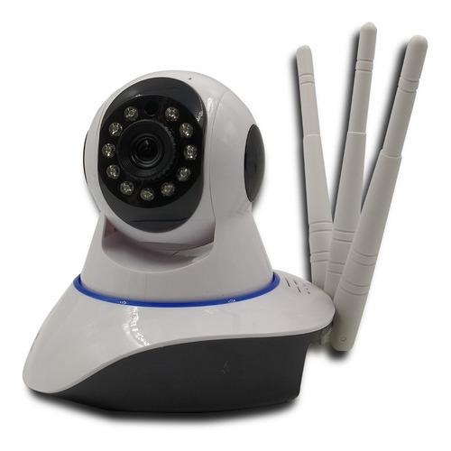 Câmera Ip 3 Antenas Wifi Wireless 3ª Geração Visão Noturna Original