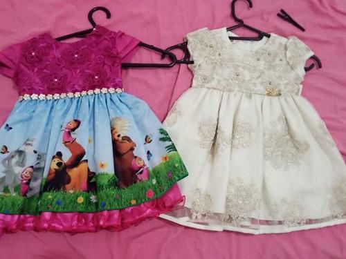 Vestido Usado Uma Vez Tamanho2(marcha E O Urso)Outro Tam1 Original