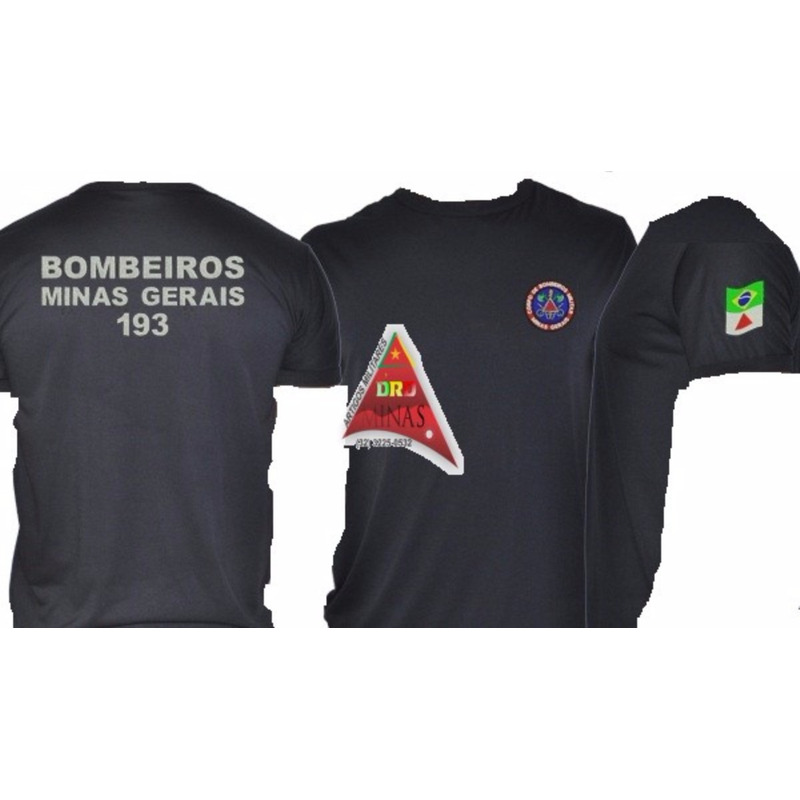 Camisa Bombeiro Militar - Preta  Bordada