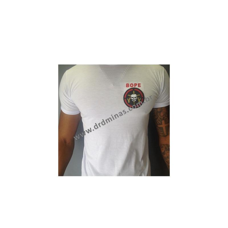 Camisa BOPE -  Branca Bordada