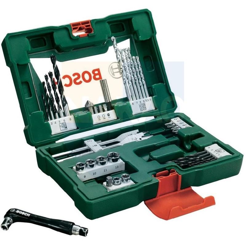 Kit - Furadeira de Impacto e Parafusadeira à Bateria - HP12 - Black&Decker + Jogo de Brocas, Soquetes e Bits V-Line - 41 peças - Bosch