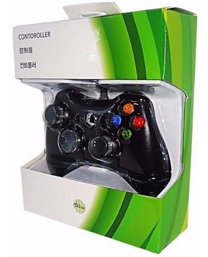 Controle Com Fio Para Xbox 360 Slim / Fat E Pc Joystick Original