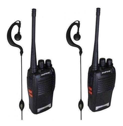 Kit 2  Rádio Comunicador Walk Talk Baofeng 777s+ Fone Original