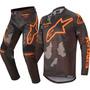 Calça Camisa Kit Alpinestars Racer Tactical 2020 Cinza/laran