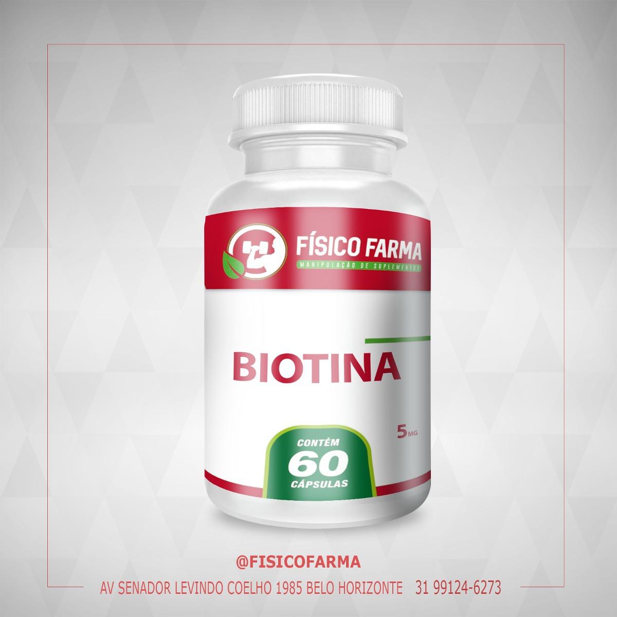 Biotina 5mg - 60 Cápsulas