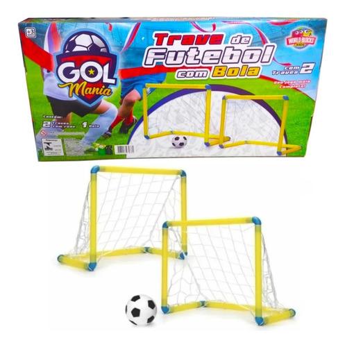 Golzinho Infantil 2 Traves 2 Redes 1 Bola Original