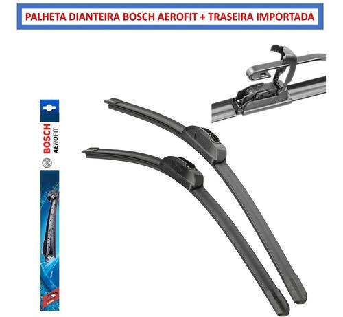 Par Palheta Limpador Modelo  Bosch Aerofi + Traseira Original