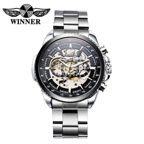 Winner Hollowed-out Relógio Mecânico Automático De Alto Qual Original