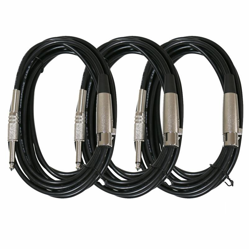 3 Cabos Xlr-p10