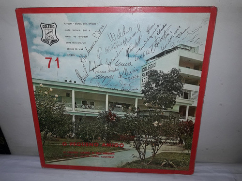 Lp O Pequeno Amigo,colégio Santo Agostinho 1971 Original