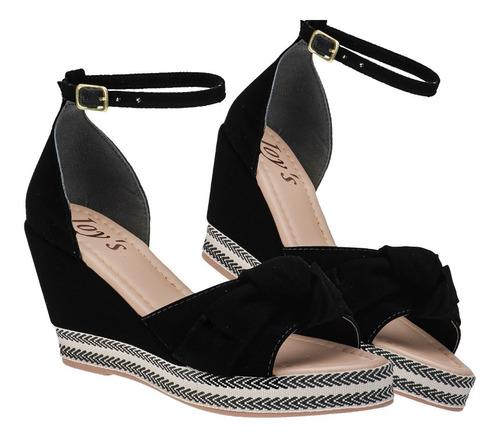 Sapato Salto Feminino Anabela Confot Moda Casual Joys Tira Original