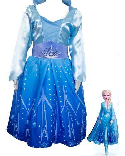 Fantasia Elsa Frozen 2 Vestido Infantil Roupa + Acessórios Original