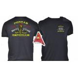 Camisa Preta Forças Especiais -  Preta  Bordada
