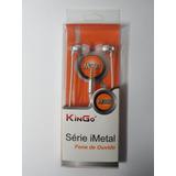 Fone de Ouvido Earphone M300 Linha Premium Kingo