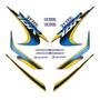 Jogo Adesivo Ybr 125 2000 Azul Lbm Lb00701