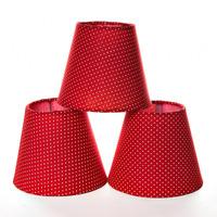 Jogo Cupulas Para Lustre Vermelha (3 Unid.)