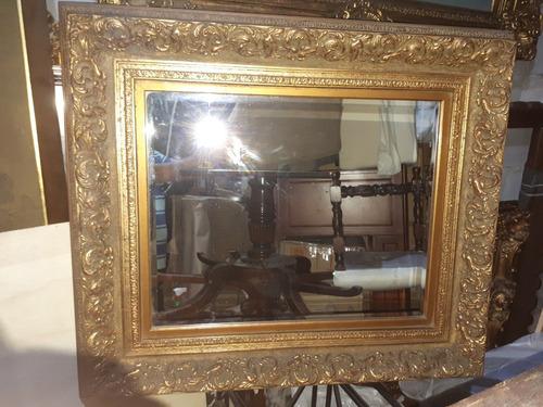 03 Antigos Raros Espelhos Bisotados Molduras Trabalhadas