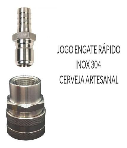 Engate Rápido Inox (macho E Fêmea) 1/2 Cerveja Artesanal Original
