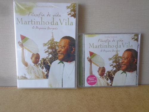 Lote Dvd + Cd  Martinho Da Vila Filosofia De Vida Lacrados Original