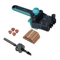 Kit Combo Gabarito para Furação Cavilha 4640 + Conjunto para cavilhar de 10mm 2918 - Wolfcraft