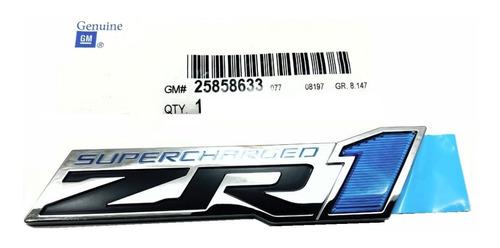 Corvette Emblema Zr1 Para Lama  Gm Reposição Unidade Original
