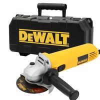 """Esmerilhadeira Angular 4 1/2"""" 700W Dewalt com Maleta e 5 Discos - DWE4010K 220V"""