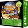 Coleção Educação Ambiental Na Escola 4 Dvd's 1 Livro