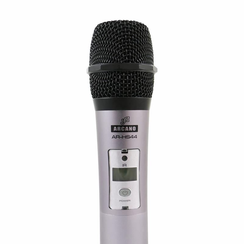 Microfone Sem Fio Arcano Ar-hs44 4 Microfones Completo