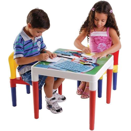 Mesa Infantil Com 2 Cadeiras Escolar Com Acessórios Bell Toy