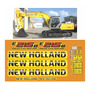 Kit Adesivo Completo Escavadeira New Holland E215 B E215b Mk
