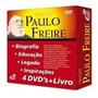 Coleção Grandes Educadores Paulo Freire 4 Dvd's 1 Livro