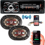 Toca Rádio Carro Bluetooth Usb Sd Par 6x9 Bravox 69 Som
