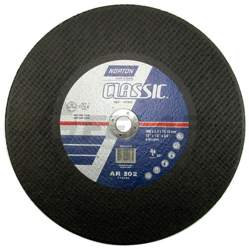 "Disco de Corte Classic AR302 Norton 12"" x 1/8"" x 3/4"""