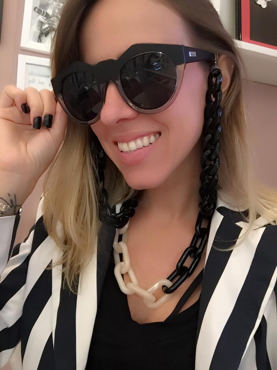 Alça de óculos elos Black