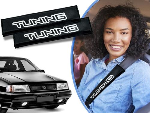 2 Capas Protetora Almofadadas Para Cinto De Segurança Automotivo Preta Silk Tuning Fiat Tempra Original