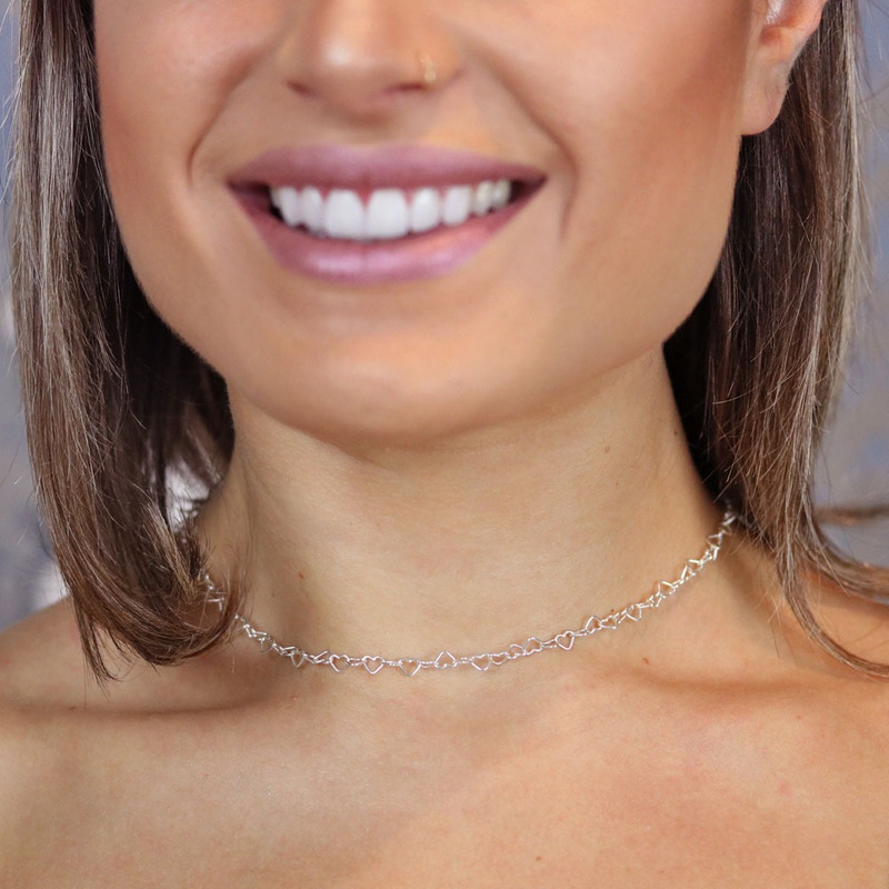 Corrente prata 925 heart - CL020153