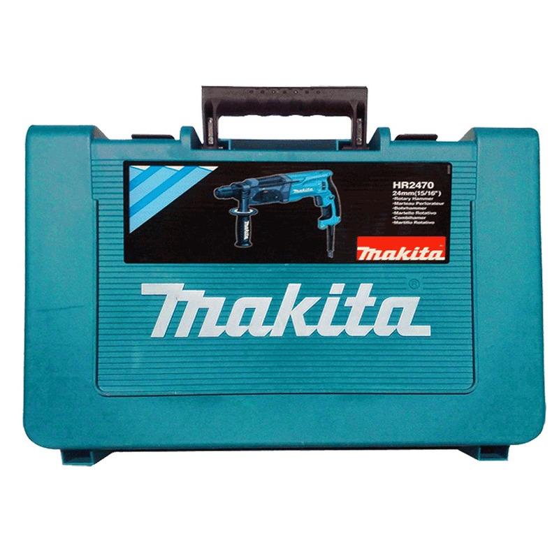 Kit Martelete Combinado Sds Plus HR2470 + Broca + Talhadeira + Ponteiro - Makita