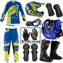Kit Moto Cross Trilha Off Road Factory Varias Cores Brinde