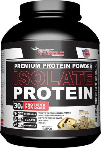 Whey Isolate Protein Isolado 1,8kg Pote - Perfect Muscle Original