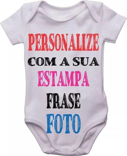 1 Body Bebê Infantil Personalizado Com Nome Frase Estampa Original