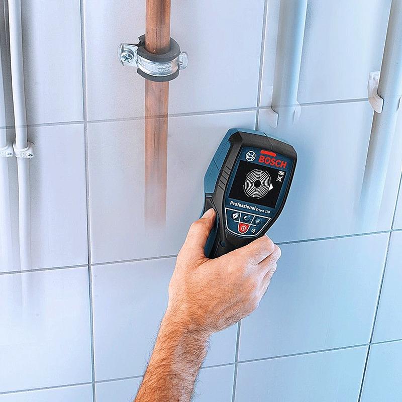 Detector de Materiais Canos de PVC com Aguá e Metais - D-tect 120 - Bosch