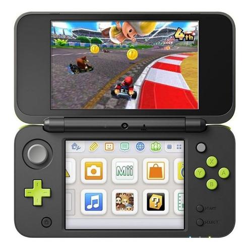 Nintendo New 2ds Xl Mario Kart 7 Bundle Preto E Verde-limão Original