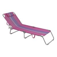 Cadeira Espreguiçadeira Alumínio Rosa 002418 - Mor