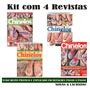 Kit 4 Revista Chinelos Decorados Artesanato