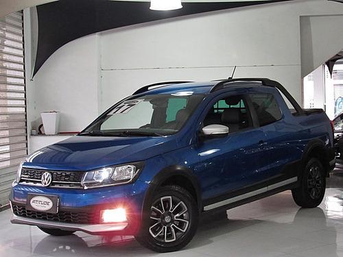 Volkswagen Saveiro 1.6 16v Cross Cab. Dupla 2017 Azul