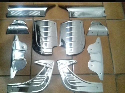 Kit 10 Inox Polaina Bate Pé Reforço Fusca Todos Anos E Model Original