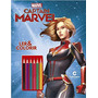 Livro Capita Marvel Ler E Colorir Blister Com Lapis De Cor