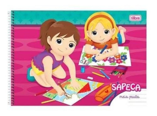 Caderno 040 Cd Meia Pauta Sapeca Tilibra Original