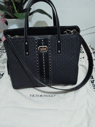 Bolsa Victor Hugo (babila Mx Nero Black) Original