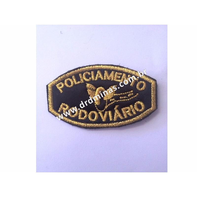 Patch / Distintivo Bordado Policiamento Rodoviario